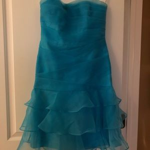 Strapless bridesmaid dress. Teal only worn once.